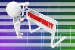 3d man productivity illustration Stock Photo
