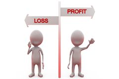 3d man profit loss concept Royalty Free Stock Photo