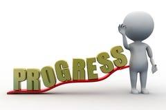 3d man progress concept Stock Photo