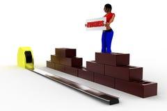 3D man progress illustration Royalty Free Stock Images