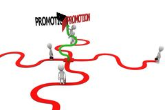 3d man promotion cooncept Stock Image