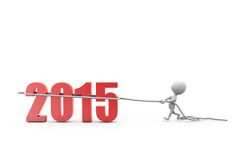 3d man pule 2015 concept Stock Image