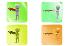 3d man purpose icon Royalty Free Stock Images
