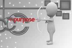 3d man purpose illustration Royalty Free Stock Photo