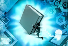 3d man push  illustration Stock Photography