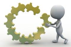 3d man puzzle concept Stock Image