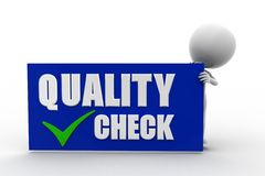 3d man quality check Royalty Free Stock Images