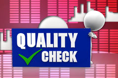 3d man quality check illustration Royalty Free Stock Images