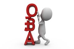 3d man question and answer concept Royalty Free Stock Images