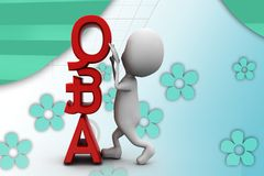 3d man question and answer illustration Stock Photography
