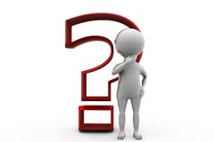 3d man question mark concept Royalty Free Stock Photography