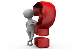 3d man question mark concept Royalty Free Stock Image