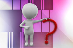 3d man question mark illustration Stock Image