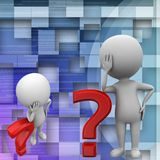3d man question mark illustration Stock Images