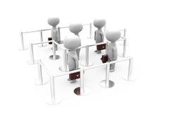 3d man queues concept Royalty Free Stock Photo