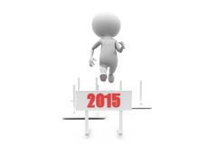 3d man 2015 race concept Stock Photos