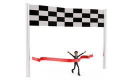 3d man race concept Royalty Free Stock Photography