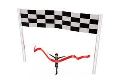 3d man race concept Stock Images