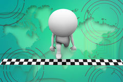 3d man race start illustration Stock Photography