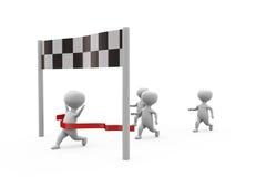 3d man race winner concept Stock Image