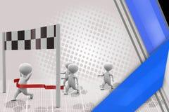 3d man race winner illustration Royalty Free Stock Image