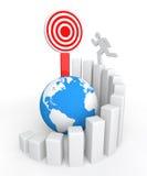 3d man reaching success goal Stock Photo