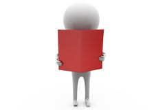 3d man read file concept Royalty Free Stock Images