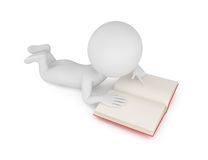3d man reading book Stock Photography