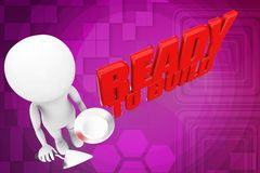3d man ready to build illustration Royalty Free Stock Photo
