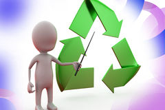 3d man recycle illustration Royalty Free Stock Photo