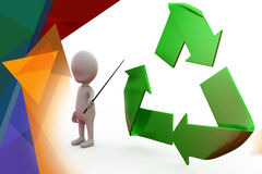 3d man recycle illustration Stock Image