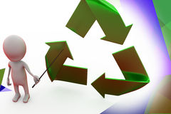 3d man recycle illustration Royalty Free Stock Images