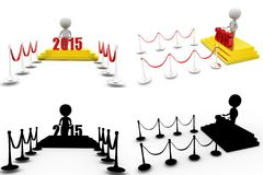 3d man 2015 red carpet concept collections with alpha and shadow channel Stock Photos