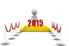 3d man 2015 red carpet concept Stock Photo