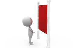 3d man red notice board concept Royalty Free Stock Photo