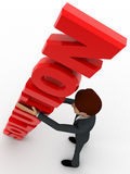 3d man with red solution text in hand concept Stock Image