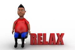 3d man relax concept Royalty Free Stock Photos
