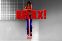 3d man relax illustration Royalty Free Stock Image