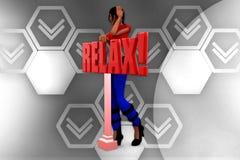 3d man relax illustration Stock Image