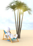 3D man relaxing Royalty Free Stock Image