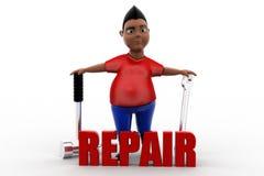 3d man repair Royalty Free Stock Image