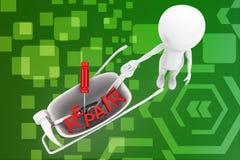 3d man repair illustration Stock Image