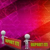 3d man report it with appreciation illustration Royalty Free Stock Photo