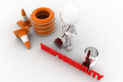 3d man responsibility concept Stock Photos