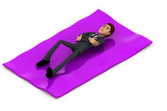 3d man rest concept Royalty Free Stock Images