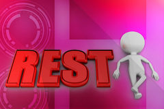3d man Rest illustration Stock Images