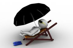 3d man resting concept Royalty Free Stock Images