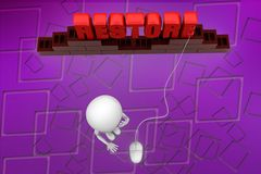 3d man restore illustration Stock Image