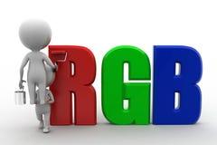 3d Man Rgb concept Stock Images