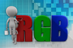 3d Man Rgb Stock Photo